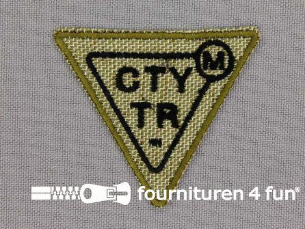 Applicatie 50x43mm driehoek 'CTYTR'