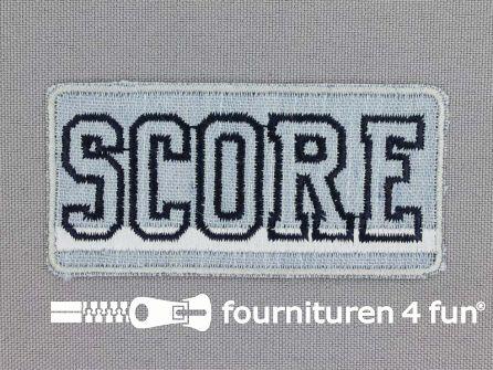 Applicatie 75x36mm 'Score' licht blauw