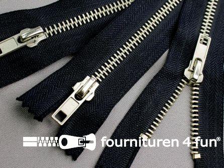 10 stuks metalen broek ritsen 16cm marine blauw