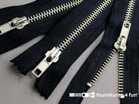 10 stuks metalen broek ritsen 12cm marine blauw