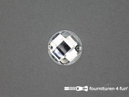 10 stuks Strass stenen rond 16mm zilver