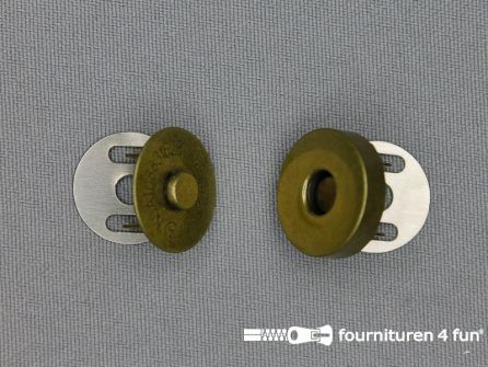 Magneet knopen 18mm buig brons per stuk