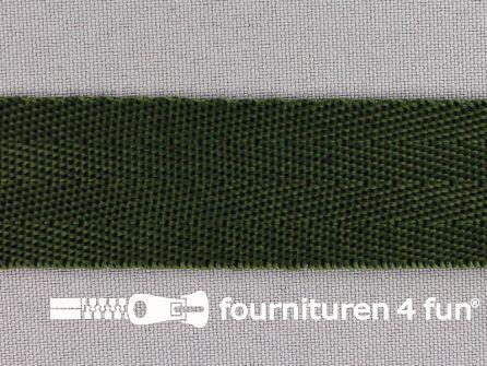 Soepel tassenband 25mm donker groen