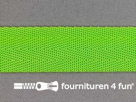 Soepel tassenband 25mm lime groen