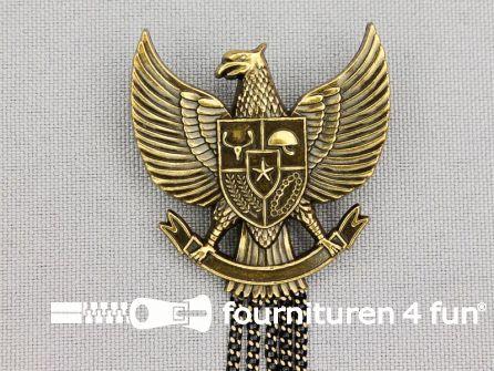 Medaille speld 36x34mm adelaar - brons