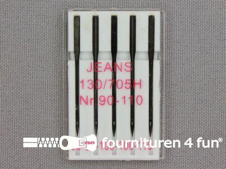10 doosjes B-KEUZE machine naalden jeans 90 - 100 - 110