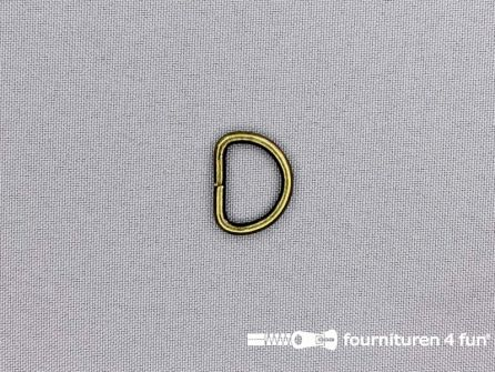 Heavy duty D-ringen 16mm brons