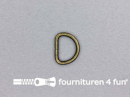 Heavy duty D-ringen 20mm brons