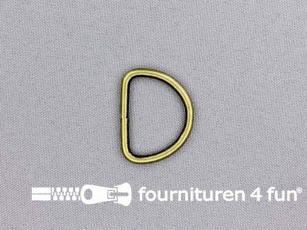 Heavy duty D-ringen 26mm brons