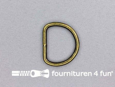 Heavy duty D-ringen 30mm brons