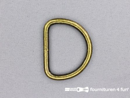 Heavy duty D-ringen 40mm brons