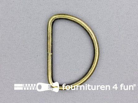 Heavy duty D-ringen 50mm brons