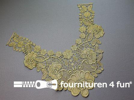 Opzet stuk voor hals / kraag bloem goud 340x310mm