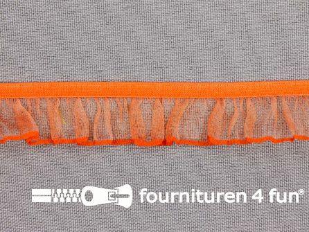 Elastisch ruche band 18mm oranje