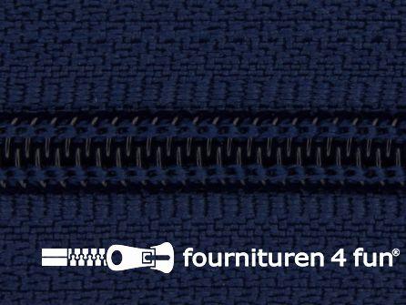 Deelbare spiraal rits 6mm met 2 schuivers licht marine blauw