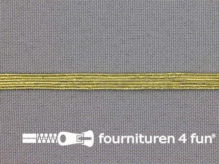 5 Meter gekleurd elastiek 4,5mm goud