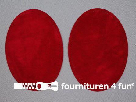 Elleboogstukken / kniestukken suèdine 140x100mm rood