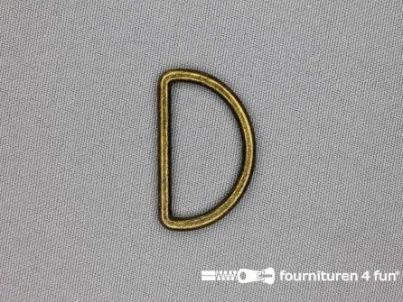 D-ring 30mm geel brons rond