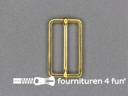 Schuifgesp 30mm goud