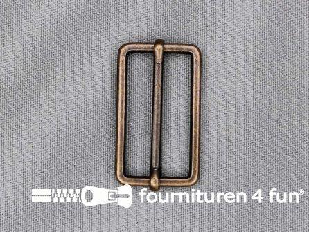 Schuifgesp 30mm rood brons