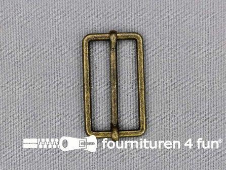 Schuifgesp 30mm geel brons
