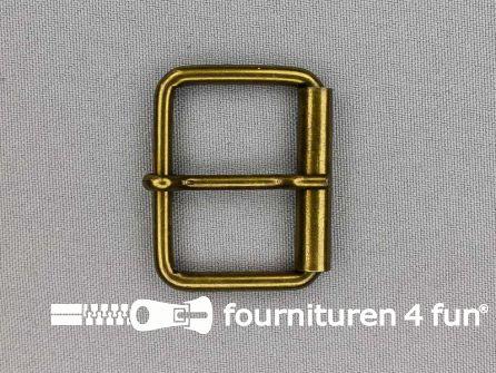 Metalen rolgesp 35mm brons
