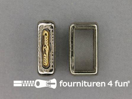 Schuifpassant 20mm zilver - goud