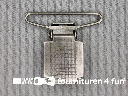 Bretelclips 35mm antiek zilver