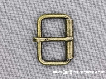 Heavy duty metalen rolgesp 30mm brons