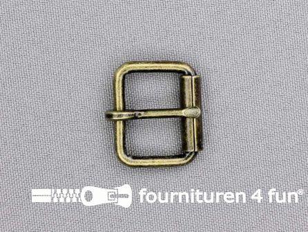 Metalen rolgesp 20mm brons