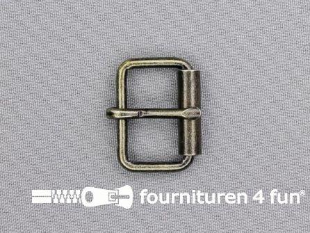 Metalen rolgesp 26mm licht brons