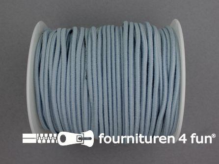 Rol 50 meter budget elastisch koord 2,7mm blauw grijs