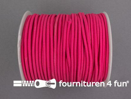 Rol 50 meter budget elastisch koord 2,7mm fuchsia roze
