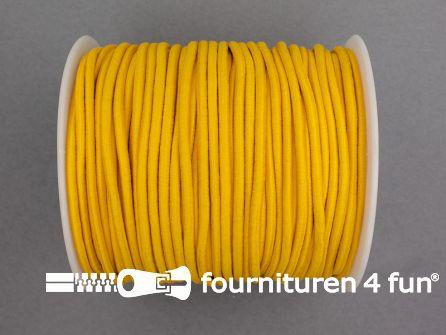 Rol 50 meter budget elastisch koord 2,7mm geel