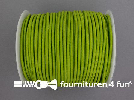 Rol 50 meter budget elastisch koord 2,7mm lime groen