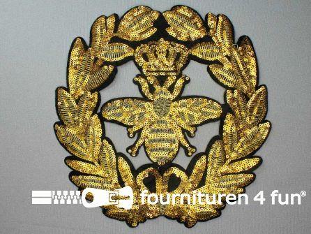 Pailletten applicatie 230x230mm goud - zwart