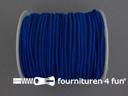 Rol 50 meter budget elastisch koord 2,7mm kobalt blauw