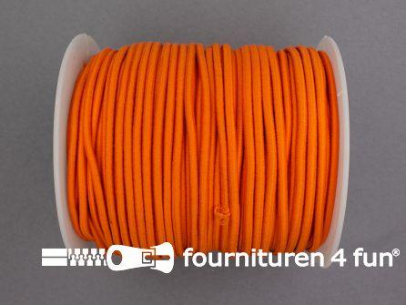 Rol 50 meter budget elastisch koord 2,7mm oranje