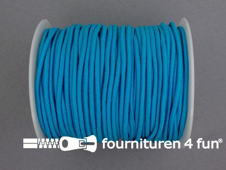 Rol 50 meter budget elastisch koord 2,7mm aqua blauw