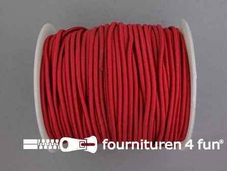 Rol 50 meter budget elastisch koord 2,7mm bordeaux rood