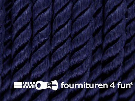 Viscose meubel koord 5mm marine blauw