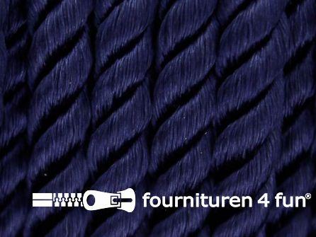 Viscose meubel koord 8mm marine blauw