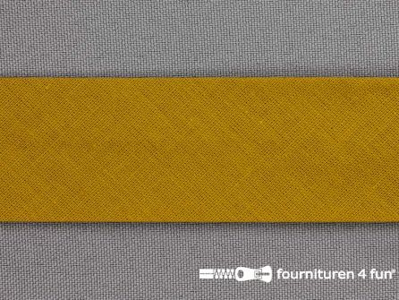 Rol 25 meter katoenen biasband 30mm mosterd geel