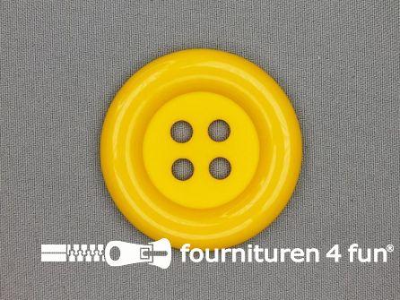 Clown knoop 54mm mais geel