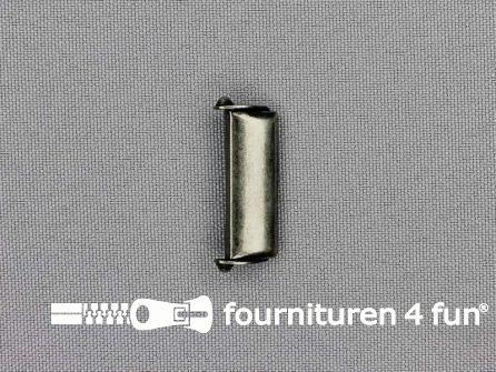 Bretelversteller 25mm zwart zilver