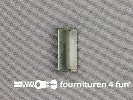Bretelversteller 25mm oud zilver