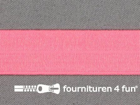 Rol 25 meter elastische biasband 20mm neon roze