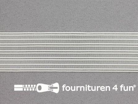 Rimpel elastiek - gaas elastiek - 29mm wit