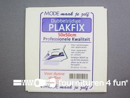 Plakfix - dubbelzijdig - 50x50cm - voor dunne stoffen