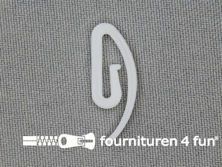 Kunststof gordijnhaken 25mm 1000 stuks